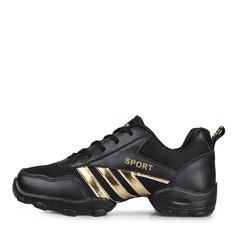 Мужская Натуральня кожа ткань Танцевальные кроссовки Танцевальные кроссовки с Шнуровка Обувь для танцев (053106496)