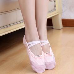 Детская обувь Холст На плокой подошве Балет Обувь для танцев (053048833)