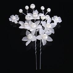 Дамы Гламурный сплав/Перлы ложный заколки (Продается в виде единой детали) (042122741)