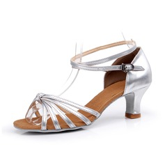 Women's Leatherette Heels Sandals Latin With Ankle Strap Dance Shoes (053075966)