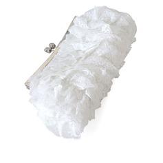 модное кружева с горный хрусталь Клатчи (012027713)
