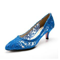 Женщины ткань Низкий каблук Закрытый мыс На каблуках (047085035)