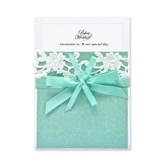 Stile classico Wrap & Pocket Invitation Cards con Nastri (Set di 10) (114040281)