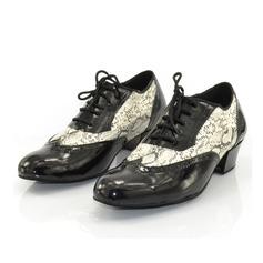 Мужская Натуральня кожа На каблуках На каблуках Латино Бальные танцы качать Практика Обувь для Персонала Обувь для танцев (053073823)
