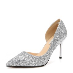 Women's Sparkling Glitter Stiletto Heel Pumps Closed Toe With Others shoes (085155267)