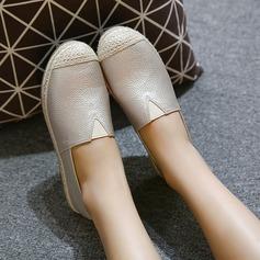 Женщины PU Низкий каблук На плокой подошве Закрытый мыс с Эластичный бинт обувь (086142477)