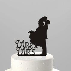 Beeldje Mr & Mrs Acryl Huwelijk Taarttoppers/Vrijgezellenfeest Taarttoppers (119063248)