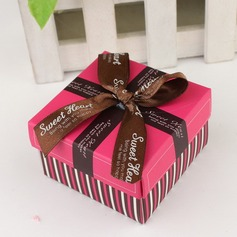 Simple Cuboid Favor Boxes With Ribbons (Set of 12) (050031663)