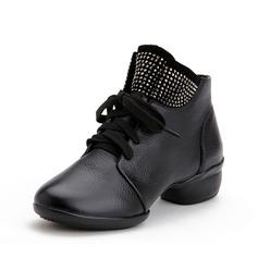 Женщины Натуральня кожа Танцевальные кроссовки Танцевальные Сапоги Обувь для танцев (053073842)