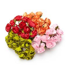 Söt Rose Papper Konstgjorda Blommor (sats om 24) (131049111)