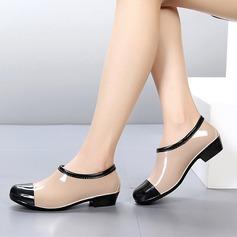 Kvinner PVC Lav Hæl Støvler Ankelstøvler Gummistøvler med Delt Bindeled sko (088127049)