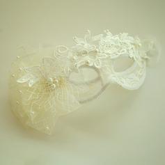 Дамы Красивая Перлы ложный/чистая пряжа/Кружева лоб ювелирные изделия/шляпа с искусственный жемчуг (042143677)