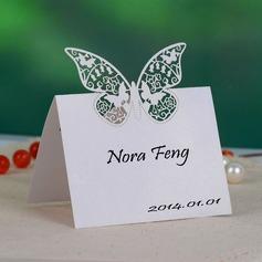 Sommerfugl udformning Perle-papir Bordkort (sæt af 12) (131037425)