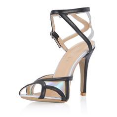 Lackskinn Stilettklack Sandaler Pumps med Spänne skor (087054109)