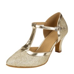 Women's Sparkling Glitter Ballroom With T-Strap Dance Shoes (053124750)