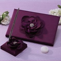 Flores projeto Strass Livro de visitas & conjunto de canetas (101037364)