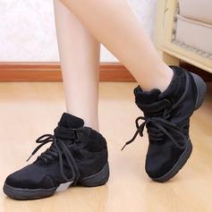 Женщины Холст Танцевальные кроссовки Практика с Шнуровка Обувь для танцев (053048836)