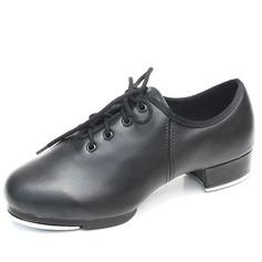 Mulheres Crianças Couro Saltos Sapateado com Aplicação de renda Sapatos de dança (047041984)