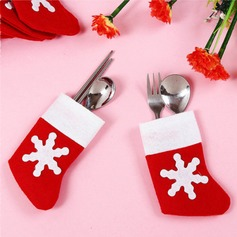 4pcs/set Mini Red Santa Claus Socks Cutlery Favor Bag Gifts (129148790)