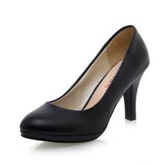 Vrouwen Kunstleer Spool Hak Pumps schoenen (085026509)