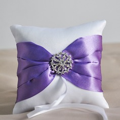 Elegant Ring Pillow in Satin With Ribbons/Rhinestones (103078713)