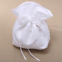 великолепный Aтласная с бантом/Имитация Pearl Ремешок/Сумочка невесты (012026340)