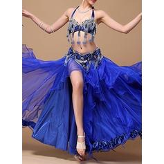 Kvinner Danseklær Bomull Polyester Chiffong Magedans Drakter (115086454)