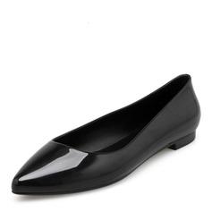 Kvinner PVC Flate sko Lukket Tå sko (086165229)