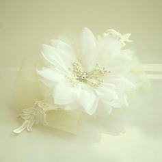Дамы Красивая чистая пряжа/Кружева/шелковые цветы лоб ювелирные изделия/шляпа (042143676)