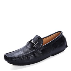 Мужская натуральня кожа U-Tip вскользь Men's Loafers (260172149)