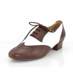 Мужская Натуральня кожа На каблуках На каблуках Латино Бальные танцы качать Практика Обувь для Персонала Обувь для танцев (053073824)