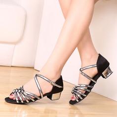 Donna Similpelle Tacchi Latino con Fibbia Scarpe da ballo (053102969)