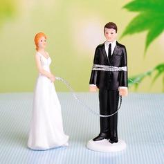 Grappig & Aarzelend Resin Huwelijk Taarttoppers (119054556)