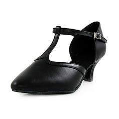 Женщины Натуральня кожа На каблуках На каблуках Обувь для Персонала с Т-ремешок Обувь для танцев (053013128)