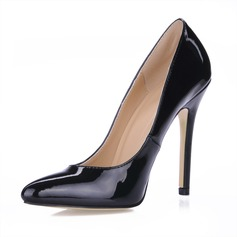 Patent Leather Stiletto Heel Closed Toe Pumps (085017461)