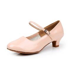 Женщины кожа На каблуках На каблуках качать Обувь для Персонала с пряжка Обувь для танцев (053075954)
