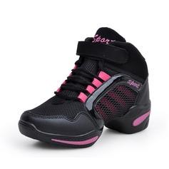 Женщины кожа Танцевальные кроссовки Танцевальные кроссовки Обувь для танцев (053091879)