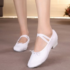 Kvinner Lerret Flate sko Ballett Mage Dansesko (053104780)