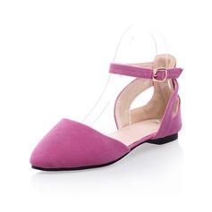 Mocka Flat Heel Platta Skor / Fritidsskor Stängt Toe med Spänne skor (086050476)