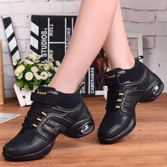 Женщины ткань Танцевальные кроссовки Танцевальные кроссовки с Шнуровка Обувь для танцев (053106477)