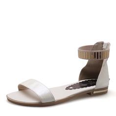 Женщины PU Плоский каблук Сандалии На плокой подошве с блестками обувь (087157108)