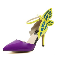 Frauen PU Stöckel Absatz Absatzschuhe Geschlossene Zehe mit Bowknot Schuhe (085143623)