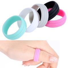 Uniek Silikon Uniseks Fashion Ringen (Verkocht in één stuk) (137140051)