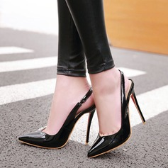 Kvinner Lær Stiletto Hæl Sandaler med Elastisk bånd sko (085115615)