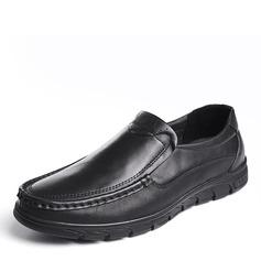 Мужская натуральня кожа U-Tip вскользь Men's Loafers (260187153)