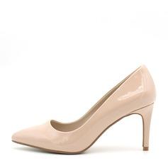 Frauen Lackleder Stöckel Absatz Absatzschuhe Geschlossene Zehe Schuhe (085145474)