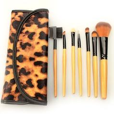 Meget godt 7Pcs Leoparden Leoparden Taske Makeup Tillbehør (046063287)