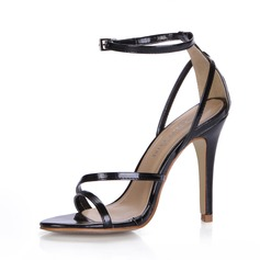 Patent Leather Stiletto Heel Sandals With Buckle shoes (087025078)