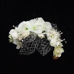 прекрасный Искусственного шелка/Тюль Цветы и перья (042026133)