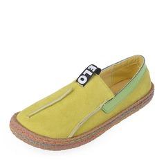 Женщины Замша Плоский каблук На плокой подошве Закрытый мыс с Соединение врасщеп обувь (086164478)